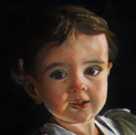 realism oil portrait of child