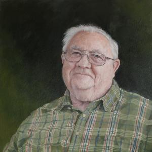 Grandpa Cobabe - Oil on Panel, by Tom Wheeler