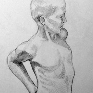 Sketch of a boy 3