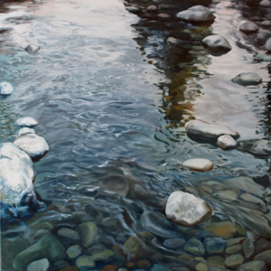 "East Fork, Oil on Canvas - 25""x36"" by Tom Wheeler"