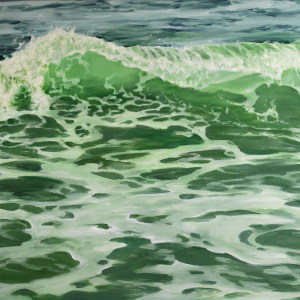 "Emerald Dance, 38x27"" Oil on Panel"