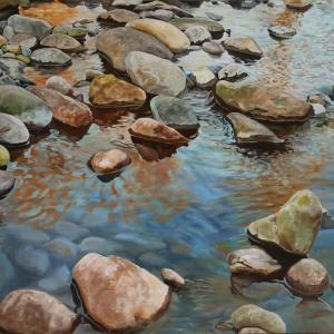 "Siouxon Creek #2 - 44""x32"" Oil on Canvas"