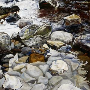 Washougal Riverbed painting by Tom Wheeler