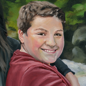 Siblings detail 3 - Oil on Canvas