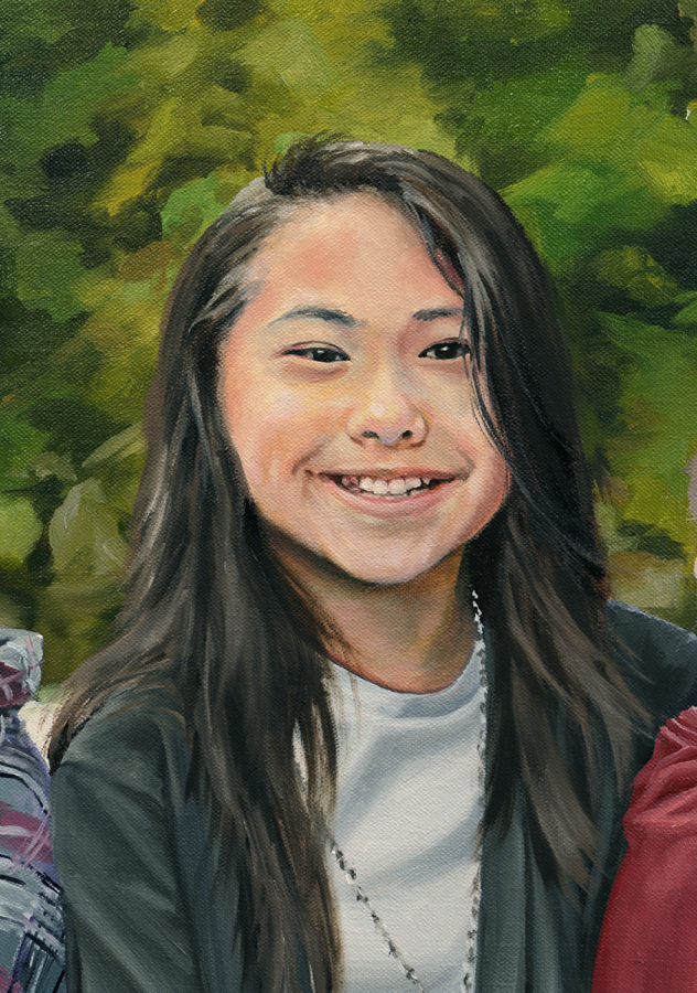 Siblings detail 2, Oil on Canvas