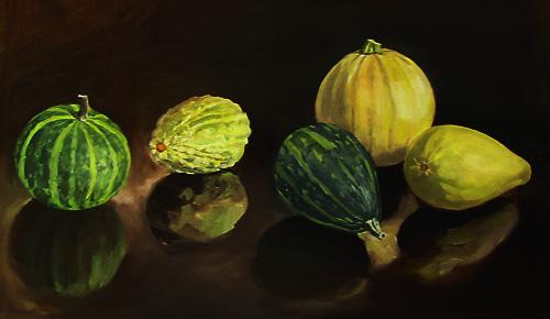 Gourds, oil painting by Tom Wheeler