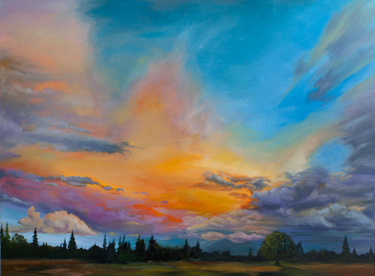 sunset painting by tom wheeler