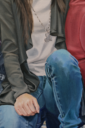 Siblings detail - Oil on Canvas