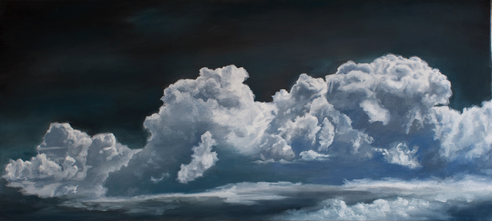 Painting Storm Clouds In Acrylic