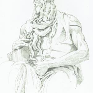 Sculpture of Moses, by Michaelangelo