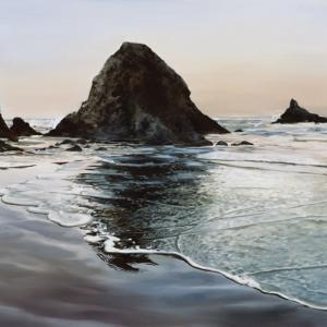 Painting of Arch Cape, Oregon coast, by Tom Wheeler