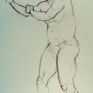drawing - the fighter