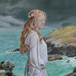 """Lady Guinevere, Oil on Canvas, 26x50"""""""