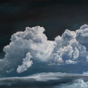 Cloudscape oil painting of clouds by Tom Wheeler