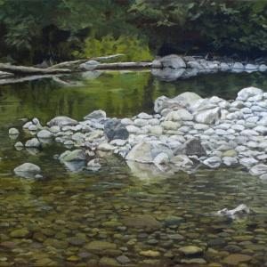 A bend in the river, oil painting by Tom Wheeler