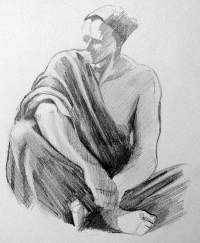 drawing - Copy of Character from a Carl Bloch painting
