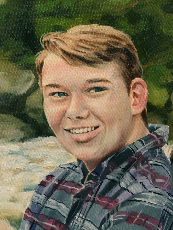 """Siblings detail - """"Max"""", Oil on Canvas"""