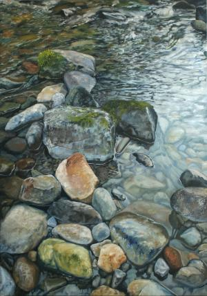 Colors on Siouxon Creek - Oil on Canvas